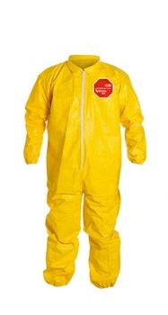 DuPont™ QC125S YL Tychem® 2000 Coverall with Elastic Wrists and Ankles - Serged Seams 12/Case