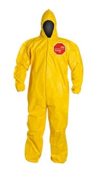 DuPont™ Tychem® 2000 QC127B YL Coverall.Standard Fit Hood Yellow 12/Case