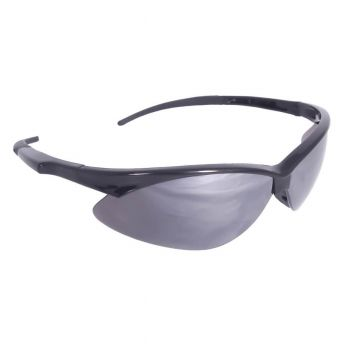 Radians Rad-Apocalypse - Silver Mirror Lens Safety Glasses Half Frame Style Black Color - 12 Pairs / Box