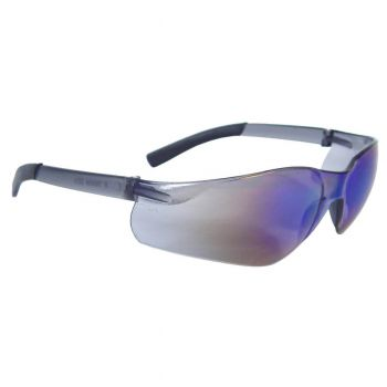 Radians Rad-Atac - Blue Mirror Lens Safety Glasses Frameless Style Blue Mirror Color - 12 Pairs / Box