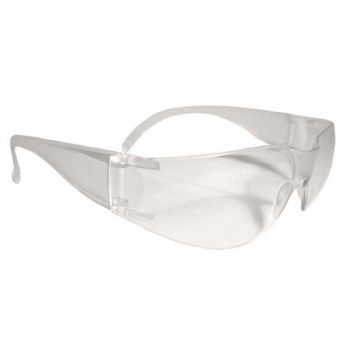 Radians MR0110ID Mirage Safety Eyewear, Clear Frame, Clear Lens, One Size