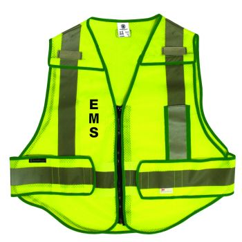 Smith & Wesson Zip-N-Rip ANSI Safety Vest - EMS logo