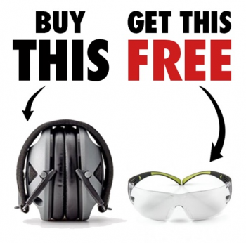 Buy RangeGuard™ Earmuffs - Get a Pair of FREE 3M SecureFit Safety Glasses