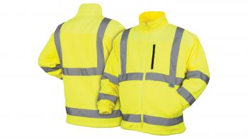Pyramex Lumen X Hi-Vis Lime Fleece Jacket - Size Large