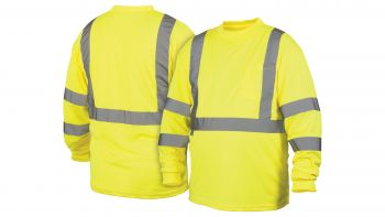 Pyramex Lumen X Hi-Vis Lime Long Sleeve T-Shirt - Size Extra Large