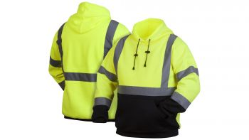 Pyramex RSSH3210 Series High-Vis Sweat Shirt Green Color  - 1 / EA