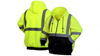 Pyramex RSZH32 Series High-Vis Sweat Shirt Green Color  - 1 / EA