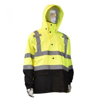 Radians RW30-3Z1 Class 3 General Purpose Rain Jacket Yellow Color (1 Each)