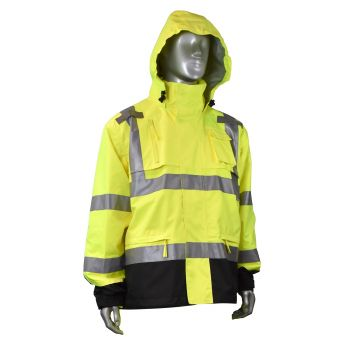 Radians RW32-3Z1Y Rain Jacket, Heavy Duty Rip Stop, Waterproof