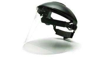 Pyramex S1010 HGBR Polyethylene Face Shield & Headgear Complete Kit