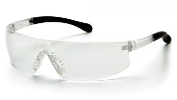 Pyramex Provoq - Clear Frame/Clear Lens Polycarbonate Safety Glasses - 12 / BX
