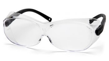 Pyramex  OTS XL  Black Temples/Clear Lens  Safety Glasses  12/BX