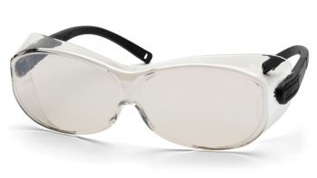 Pyramex  OTS XL  Black Temples/Indoor/Outdoor Mirror Lens  Safety Glasses  12/BX