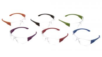 Pyramex Safety - Trulock - Assorted Temples/ Clear Lens Polycarbonate Safety Glasses - 12 / BX