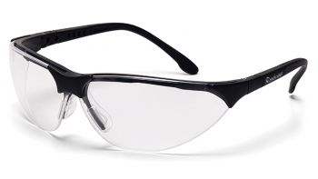 Pyramex Safety - Rendezvous - Black Frame/Clear Lens Polycarbonate Safety Glasses - 12 / BX