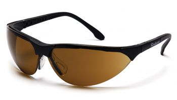 Pyramex Safety - Rendezvous - Black Frame/ Coffee Lens Polycarbonate Safety Glasses - 12 / BX