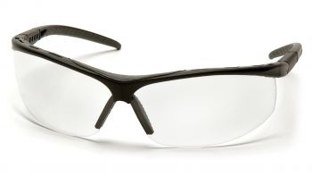 Pyramex  Pacifica  Black Frame/Clear Lens  Safety Glasses  12/BX