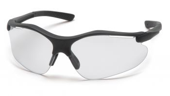 Pyramex  Fortress  Black Frame/Clear Lens  Safety Glasses  12/BX