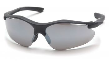 Pyramex  Fortress  Black Frame/Silver Mirror Lens  Safety Glasses  12/BX