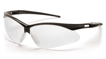 Pyramex  PMXTREME  Black Frame/Clear AntiFog Lens with Black Cord  Safety Glasses  12/BX