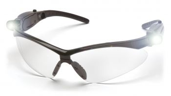 Pyramex PMXTREME Black Frame/Clear Lens With Led Temples (1 Box of 6)