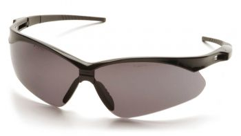 Pyramex  PMXTREME  Black Frame/Gray Lens with Black Cord  Safety Glasses  12/BX