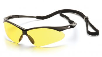 Pyramex PMXTREME Black Frame/Amber Lens With Black Cord (1 Box of 12)