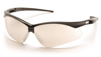Pyramex Safety - PMXTREME - Black Frame/I/O Mirror Lens with Black Cord Polycarbonate Safety Glasses - 12 / BX