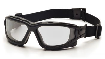 Pyramex  IForce  Black StrapTemples/Clear AntiFog Lens  Safety Glasses  12/BX