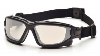 Pyramex  IForce Slim  Black StrapTemples/Indoor/Outdoor Mirror AntiFog Lens  Safety Glasses  12/BX