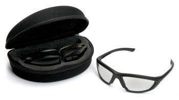 Pyramex Trifecta Black Frame/Kit Includes Clear, Gray & Amber Lens