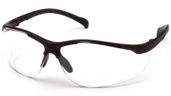 Pyramex  Gravex  Black Frame/Clear Lens  Safety Glasses  12/BX