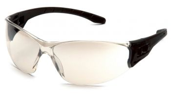 Pyramex Safety - Trulock - Black Frame/ Indoor-Outdoor Mirror Lens Polycarbonate Safety Glasses - 12 / BX