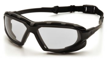Pyramex  Highlander Plus  BlackGray Frame/Clear AntiFog Lens  Safety Glasses  12/BX