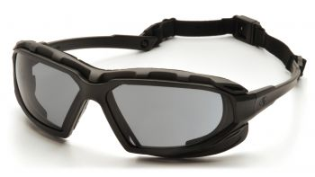 Pyramex  Highlander Plus  BlackGray Frame/Gray AntiFog Lens  Safety Glasses  12/BX