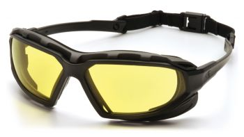 Pyramex  Highlander Plus  BlackGray Frame/Amber AntiFog Lens  Safety Glasses  12/BX