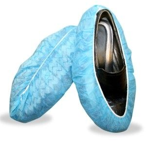 """Cordova 16"""" Disposable Shoe Covers with Non-Skid Size Large Blue Color (Bag of 100) 4 Bags/Case"""