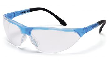 Pyramex Safety - Rendezvous - Crystal Blue Frame/Clear Lens Polycarbonate Safety Glasses - 12 / BX