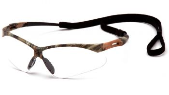 Pyramex Safety - PMXTREME - Camo Frame/Clear Anti-Fog Lens with Black Cord Polycarbonate Safety Glasses - 12 / BX