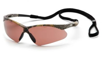 Pyramex Safety - PMXTREME - Camo Frame/Sandstone Bronze Anti-Fog Lens with Black Cord Polycarbonate Safety Glasses - 12 / BX