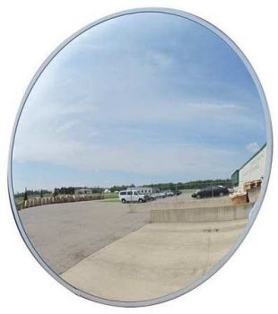 """Domes and Mirrors by Se-Kure TCVO-36T-PB 36"""" Outdoor Convex Mirror"""