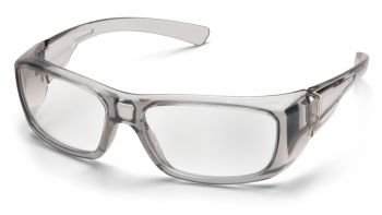 Pyramex  Emerge  Gray Frame/Clear Lens  Safety Glasses  12/BX