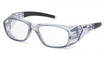 Pyramex  Emerge Plus  Gray Frame/Clear top +2.5 insert reader Lens  Safety Glasses  6 /BX