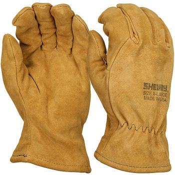 Tan Pigskin Gauntlet Glove-Large