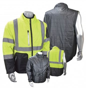Radians Radwear Jacket High-Vis Yellow Color XL Size - 1 Each