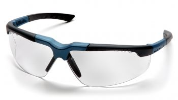 Pyramex Safety - Reatta - Blue-Charcoal Frame/Clear Lens Polycarbonate Safety Glasses - 12 / BX