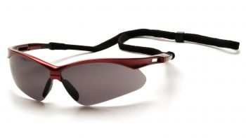 Pyramex PMXTREME Red Frame/Gray Lens With Black Cord (1 Box of 12)