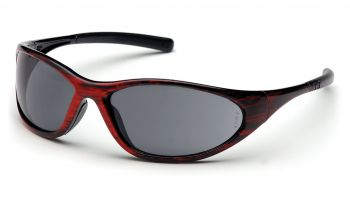 Pyramex Zone II Red Wood Frame/Gray Lens (1 Box of 12)