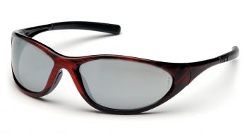 Pyramex Zone II Red Wood Frame/Silver Mirror Lens (1 Box of 12)