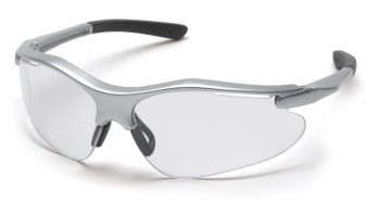 Pyramex  Fortress  Silver Frame/Clear Lens  Safety Glasses  12/BX